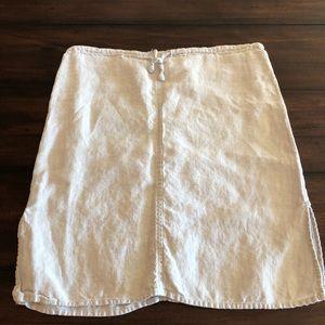 Tan linen skirt